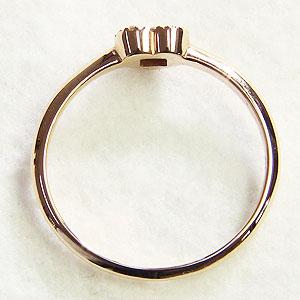 ハート ダイヤモンドリング 指輪 ピンクゴールド K18