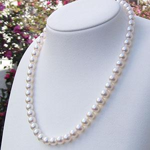 あこや本真珠:ネックレス:チョーカー:ピンクホワイト系:8mm-8.5mm:パール:真珠:アコヤ