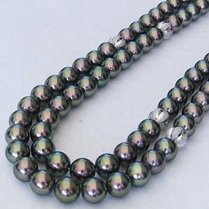 真珠:パール:あこや本真珠ネックレス:パールネックレス:ピーコック系:7.0mm-7.5mm:アコヤ本真珠:チョーカー:ロングネックレス