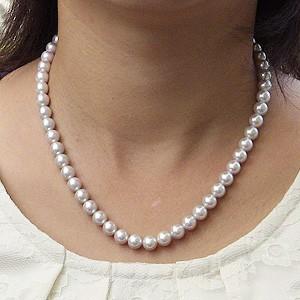 真珠:パール:あこや本真珠:パール:ナチュラルグレー系:7.5mm-8.0mm:アコヤ真珠ネックレス:チョーカー
