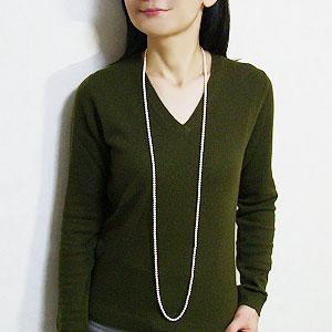 ロングネックレス パールネックレス 真珠 ネックレス 3本ロング あこや本真珠 4.5-5mm ベビーパール ネックレス 全長約123cm