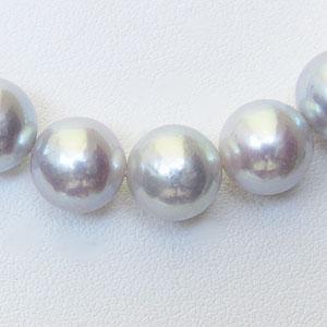 真珠:パール:あこや本真珠ネックレス:パールネックレス:ナチュラルグレー系:8.5mm-9.0mm:アコヤ本真珠:チョーカー
