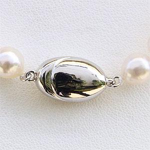 あこや本真珠 ホワイトピンク系 7-7.5mm パール ネックレス 全長約42.5cm バロック型 真珠 限定20本