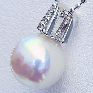 真珠:パール:リング:あこや本真珠:真珠の直径:8mm:アコヤ本真珠:ダイヤモンド:0.10ct:PT900:プラチナ:指輪