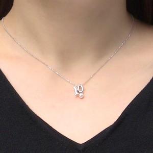 あこや本真珠:ペンダントトップ:パール:4~4.5mm:ピンクホワイト系:K18WG:ホワイトゴールド:10月誕生石:ピンクトルマリン