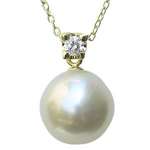 真珠:パール:ペンダントトップ:南洋白蝶真珠:ホワイト系:11mm:ペンダントヘッド:ダイヤモンド:0.10ct:K18:18金:ゴールド
