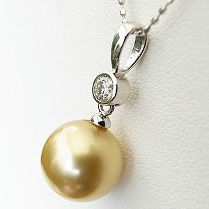 ネックレスペンダント 南洋真珠パール PT900プラチナネックレス ダイヤモンド