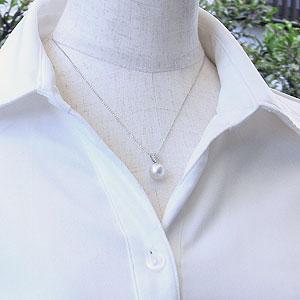 真珠:パール:ペンダントトップ:ピンクホワイトパール:南洋白蝶真珠:ピンクホワイト系:10mm:ダイヤモンド:0.15ct:K18WG:ホワイトゴールド