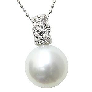 ネックレス 南洋真珠パール ホワイトゴールドネックレス ダイヤモンド ペンダント