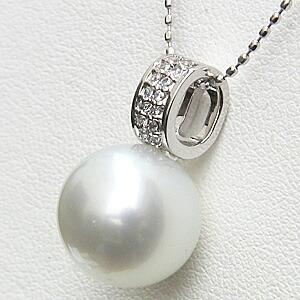 ネックレスペンダント 南洋真珠パール PT900 プラチナネックレス ダイヤモンド