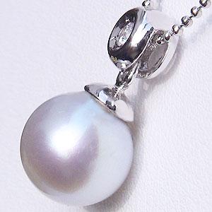 南洋白蝶真珠:ペンダントトップ(ヘッド):真珠の大きさ:10mm:ピンクホワイト系:ホワイトゴールド:K18WG
