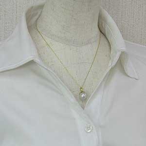 ペンダント 真珠 パール 南洋白蝶真珠 K18 ゴールド 真珠 ホワイトピンク系 径11mm ペンダントトップ