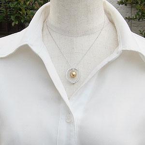 ネックレス 南洋真珠パール ホワイトゴールド ペンダントネックレス ダイヤモンド ジュエリー