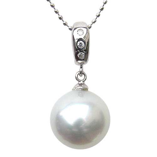 ネックレスペンダント 南洋真珠 パール  ホワイトゴールド ネックレス ダイヤモンド ジュエリー