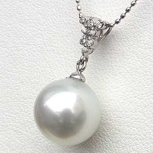 ネックレスペンダント 南洋真珠 パール PT900 プラチナ ネックレス ダイヤモンド ジュエリー