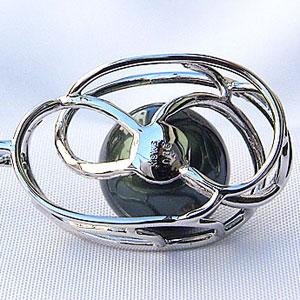 タヒチ黒蝶真珠:ペンダント:12mm:グリーン系