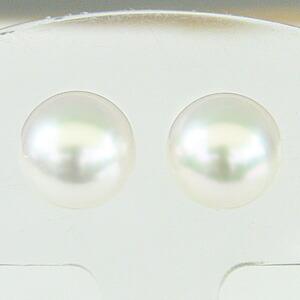 花珠真珠 パール スタッドピアス  あこや真珠 9mm K18ゴールド シンプル