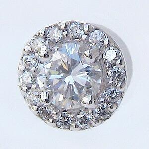 ダイヤモンド ピアス PT900 プラチナ シリコンキャッチ付き ピアス