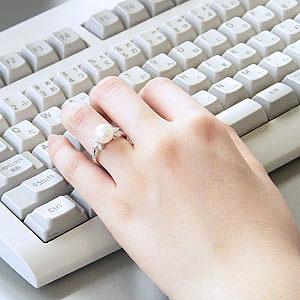 パール:リング:真珠:指輪:あこや本真珠:ピンクホワイト系:8.5mm:アコヤ:ダイヤモンド:0.29ct:プラチナ:PT900