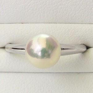 あこや本真珠:リング:ピンクホワイト系:7mm:K18WG:ホワイトゴールド:指輪