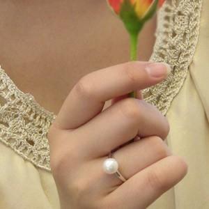 あこや本真珠:リング:ピンクホワイト系:8mm:PT900:プラチナ:指輪