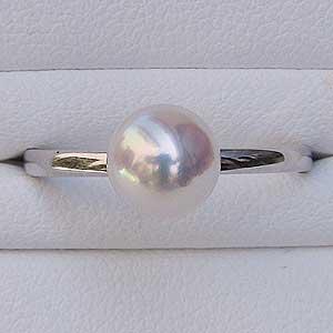 リング パール 指輪 あこや真珠パールリング ホワイトゴールド ダイヤモンド 6月誕生石