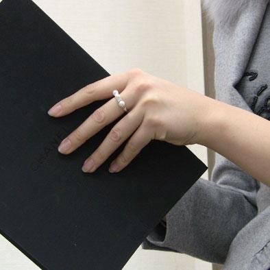 あこや本真珠:パール:リング:ピンクホワイト系:5.5mm