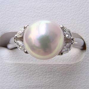 あこや本真珠:9mm:ピンクホワイト系