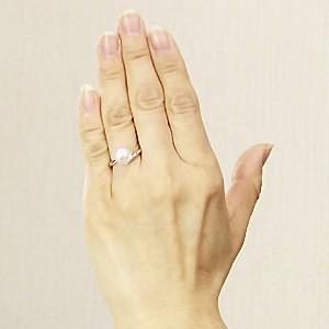 ブライダル リング パール 指輪 あこや真珠パール PT900プラチナ ダイヤモンド