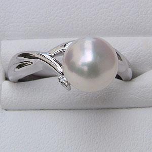 リング パール  真珠 指輪 あこや真珠 シルバー silver パール リング キュービックジルコニア