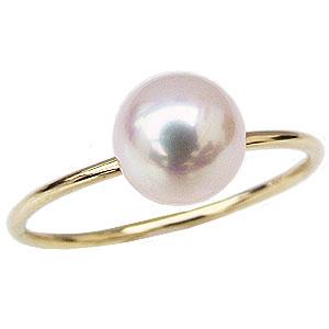 パールリング 真珠指輪 K18 ゴールド あこや本真珠 6ミリ K18 ゴールド
