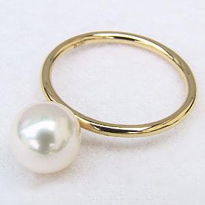 パールリング 真珠指輪 K18 ゴールド あこや本真珠 8ミリ K18 ゴールド