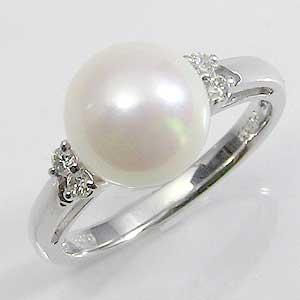 真珠:パール:指輪:リング:あこや本真珠:8.5mm:ピンクホワイト:ダイヤモンド:PT900:プラチナ