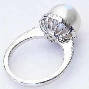 真珠,パール,南洋白蝶真珠,リング,ブルーホワイト系,11mm,K18WG,ホワイトゴールド,ダイヤモンド,ダイヤ,指輪,18金ホワイトゴールド