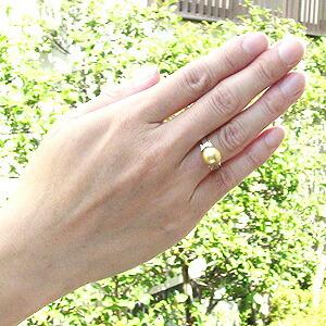 真珠:パール:リング:南洋白蝶真珠:指輪:ゴールド系:10mm:Pt900:プラチナ
