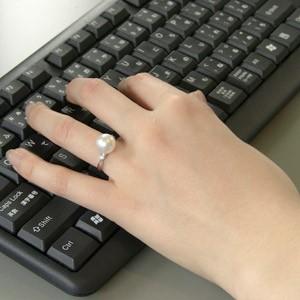 南洋白蝶真珠:リング:ダイヤモンド:パール:ピンクホワイト系:10mm:PT900:プラチナ:指輪