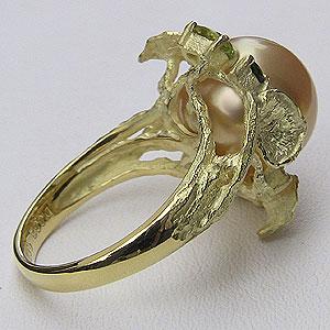 南洋白蝶真珠:ダイヤモンド:0.02ct:K18:リング:パール:12mm:ゴールド系:ラウンド形:指輪