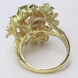 南洋白蝶真珠:ダイヤモンド:0.08ct:K18:リング:パール:12mm:ゴールド系:ラウンド形:指輪