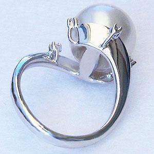 真珠:パール:リング:南洋白蝶真珠:12mm:ピンクホワイト系:ダイヤモンド:0.06ct:K18WG:ホワイトゴールド:指輪