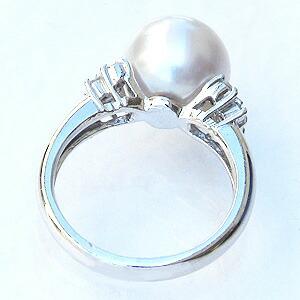 南洋白蝶真珠:リング:ピンクホワイト系:10mm:Pt900:プラチナ