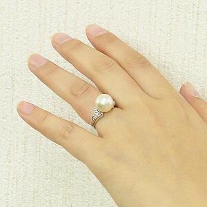 真珠:パール:指輪:南洋白蝶真珠:リング:ブルーホワイト系:11mm:ダイヤモンド:プラチナ:PT900