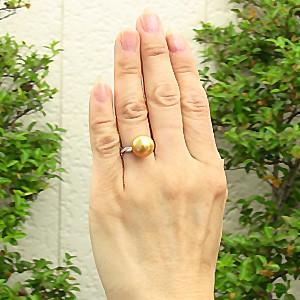 ブライダル リング パール 指輪 南洋真珠パールリング PT900 プラチナ