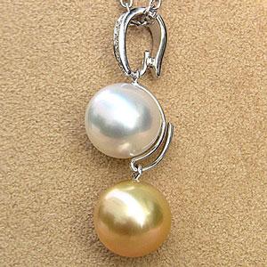 あこや本真珠:ペンダント:4mm:ブルーピンク