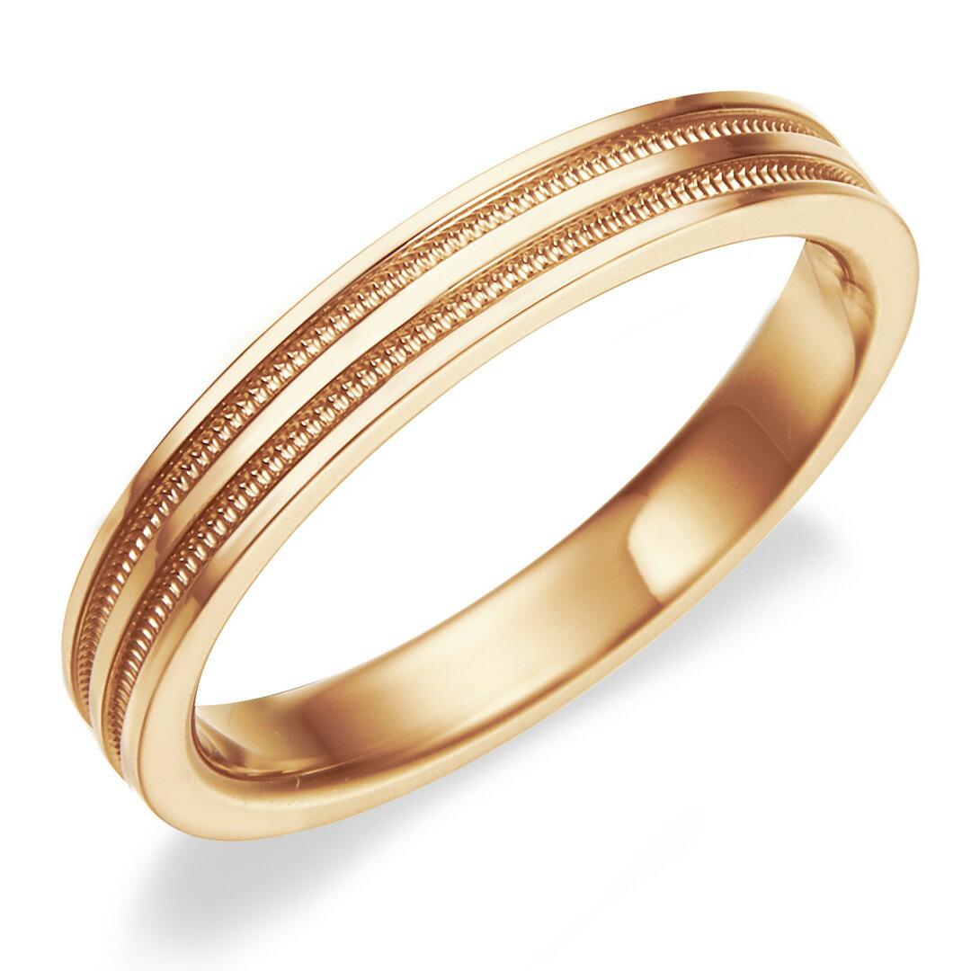 Shino Eclat Hit The Wedding Ring K18rg Rose Gold Double Mil