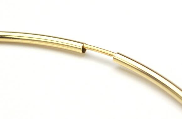 K18 フープピアス フープ ピアス HOOP PIERCE 18k 18金 ゴールド アンフィニ 1.5mm × 50mm ポスト1