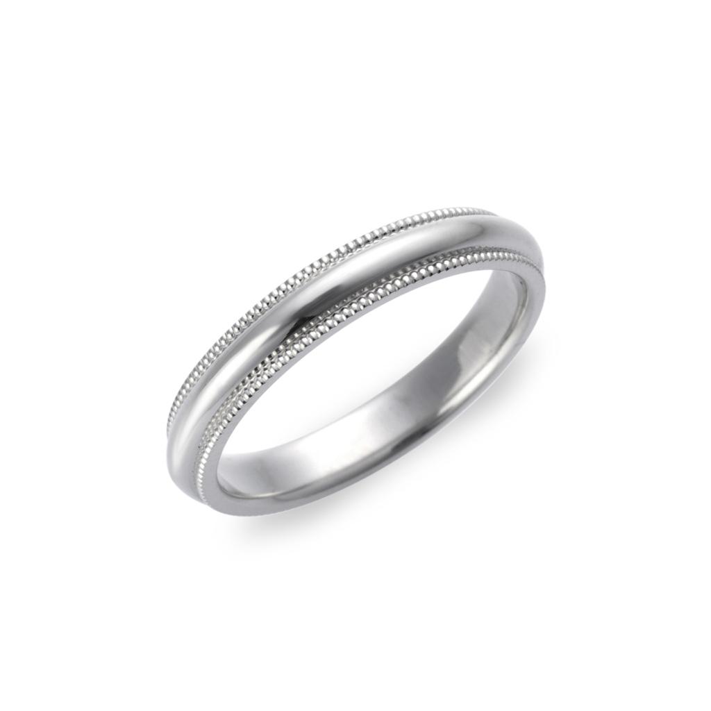 結婚指輪-マリッジリング-ブライダルリング-ミルグレイン-鍛造リング