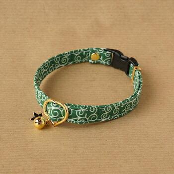 唐草の首輪(緑)