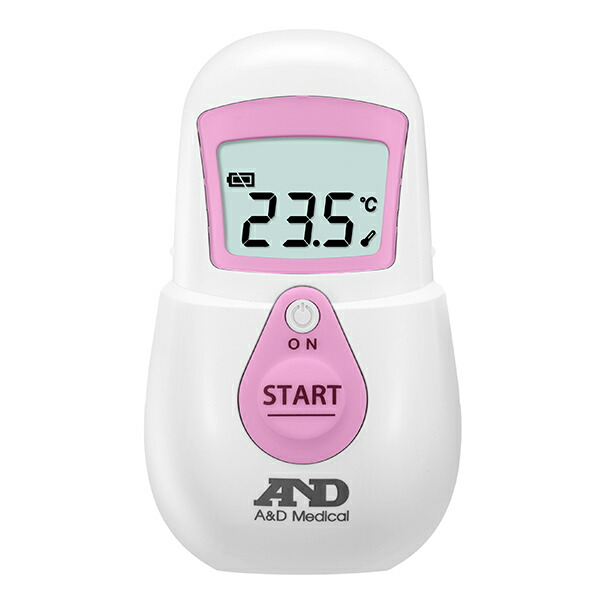 非接触体温計 でこピッと/UT-701/ピンク