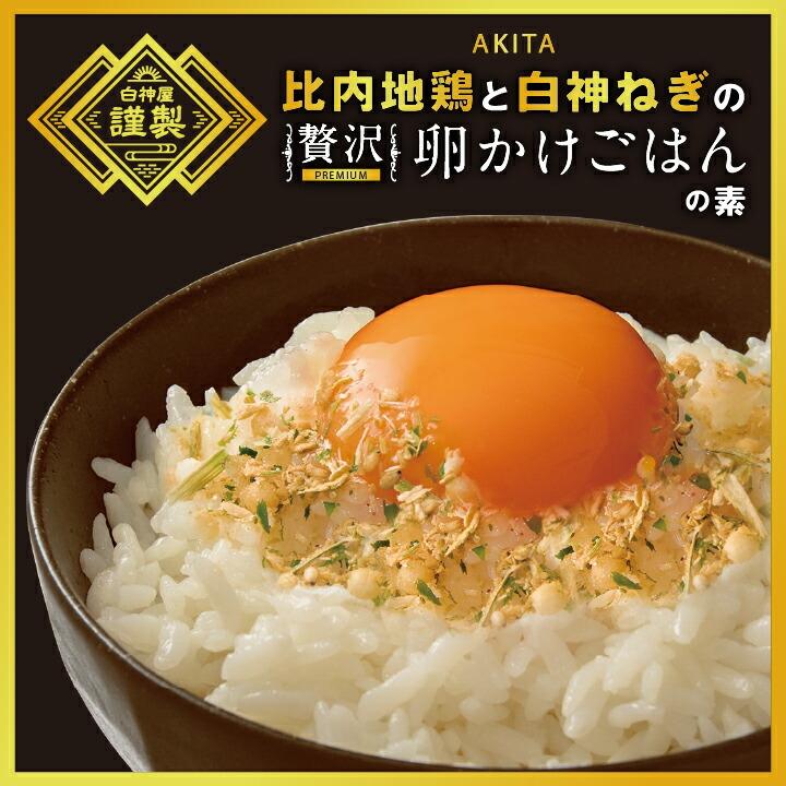 【送料無料】比内地鶏と白神ねぎの贅沢卵かけごはんの素 2袋(1袋23g入)[常温:クリックポスト便]