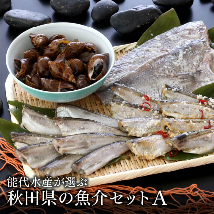 【送料無料】能代水産が選ぶ 秋田県の魚介セットA[冷凍]